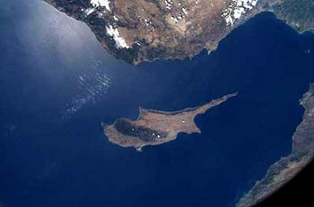 Cyprus satellite view