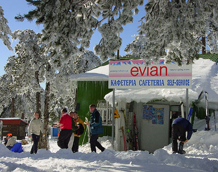 Equipment rental in Troodos ski resort