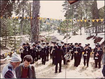 Inauguration of the ski lift in Troodos