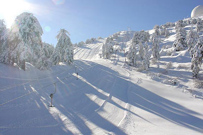 Zeus: Troodos homolgated ski slope by FIS