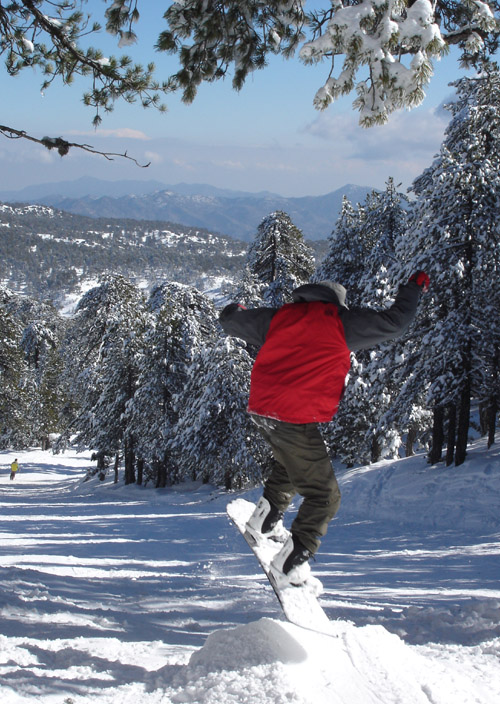 Snowboarding in Cyprus