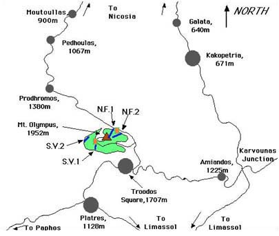 Troodos area map